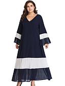 olcso Molett ruhák-Női Vékony Egyenes Ruha Midi V-alakú