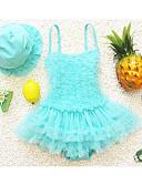 tanie Sukienki dla dziewczynek-Dzieci Dla dziewczynek Sport Solidne kolory Bawełna / Poliester Kąpielówki Fioletowy