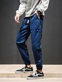 billige Herreskjorter-Herre Basale Bomuld Tynd Chinos Bukser - Ensfarvet Høj Talje Sort
