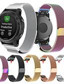 זול להקות Smartwatch-צפו בנד ל Approach S60 / Fenix 5 / Fenix 5 Plus Garmin לולאה בסגנון מילאנו מתכת אל חלד רצועת יד לספורט