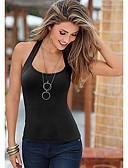 Χαμηλού Κόστους Women's Tanks & Camisoles-Γυναικεία Αμάνικη Μπλούζα Βασικό Μονόχρωμο