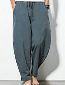 billige Herreskjorter-Herre Basale Plusstørrelser Chinos Bukser - Ensfarvet Sort