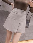 hesapli Bluz-Kadın's Dışarı Çıkma A Şekilli Etekler - Solid Kahverengi Siyah Gri M L XL
