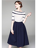 cheap Cocktail Dresses-Casual Dress Two Piece Jewel Neck Knee Length Chiffon Dress with Ruffles by LAN TING Express