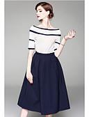 preiswerte Kleider für besondere Anlässe-Zweiteiler Schmuck Knie-Länge Chiffon Kleid mit Rüschen durch LAN TING Express