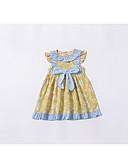 Χαμηλού Κόστους Βρεφικά φορέματα-Μωρό Κοριτσίστικα Βασικό Φλοράλ Αμάνικο Βαμβάκι Φόρεμα Κίτρινο