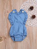 رخيصةأون مجموعات ملابس البيبي-Bodysuit بدون كم بدون ظهر لون سادة رياضي Active / أساسي للفتيات طفل / طفل صغير