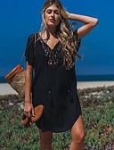 preiswerte Strandkleider-Damen Gurt Schwarz Rock Cover-Up Bademode - Solide Einheitsgröße Schwarz / Sexy