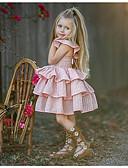 お買い得  赤ちゃん ドレス-赤ちゃん 女の子 ベーシック ソリッド ノースリーブ ポリエステル ドレス ピンク