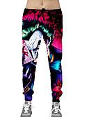 cheap Men's Pants & Shorts-Men's Slim Sweatpants Pants - Solid Colored / Geometric Red