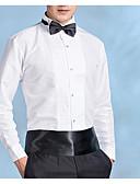 povoljno Smokinzi-Veći konfekcijski brojevi Majica Muškarci Party / Dnevno Jednobojni Klasični ovratnik Slim Obala / Dugih rukava
