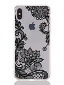 זול מגנים לאייפון-מגן עבור Apple iPhone XS / iPhone XR / iPhone XS Max שקוף / תבנית כיסוי אחורי הדפסת תחרה / פרח רך TPU