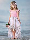 Χαμηλού Κόστους Φορέματα για κορίτσια-Μωρό Κοριτσίστικα Βασικό Μονόχρωμο Αμάνικο Βαμβάκι Φόρεμα Ανθισμένο Ροζ