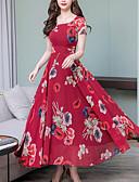 hesapli Vintage Kraliçesi-kadın maxi salıncak elbise şarap kırmızı siyah s m l xl