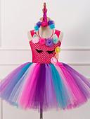 זול שמלות נשים-שמלה עד הברך ללא שרוולים תחרה טלאים פעיל / מתוק בנות ילדים / פעוטות / כותנה