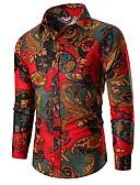 זול חולצות לגברים-פרחוני חולצה - בגדי ריקוד גברים דפוס תלתן