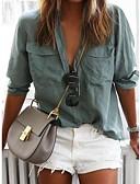 cheap Women-Women's Slim Shirt - Solid Colored Fashion Shirt Collar Blushing Pink XL / Spring / Summer / Winter