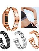 זול להקות Smartwatch-צפו בנד ל Fitbit Charge 3 פיטביט רצועת ספורט / עיצוב תכשיטים מתכת אל חלד רצועת יד לספורט