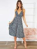 זול סרבלים ואוברולים לנשים-M L XL נמר, סרבלים רגל רחבה לבן שחור כתפיה סגנון רחוב בגדי ריקוד נשים