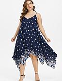رخيصةأون فساتين قياس كبير-فستان نسائي كلاسيكي عصري أنيق غير متماثل ورد مع حمالة