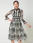 cheap Women's Dresses-Women's Elegant Swing Dress Lace Black L XL XXL