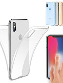 billige iPhone-etuier-Etui Til Apple iPhone XS / iPhone XS Max Stødsikker / Ultratyndt / Transparent Fuldt etui Ensfarvet Blødt TPU for iPhone XS / iPhone XR / iPhone XS Max