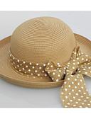 preiswerte Damenhüte-Damen Retro,Stroh Strohhut Solide Weiß Beige Khaki