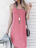 cheap Women's Dresses-Women's Shift Dress Pink Gray Wine L XL XXL