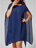 preiswerte Kleider in Übergröße-Damen Schlank Swing Hemd Kleid Knielang