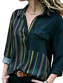 economico Camicie da donna-Camicia Per donna A strisce Colletto Rosso XXXL