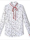 זול חולצה-גיאומטרי צווארון חולצה רזה חולצה - בגדי ריקוד נשים דפוס פול XXL