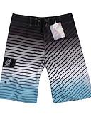 זול בגדי ים לגברים-תלתן L XL XXL פסים, בגדי ים חלק אחד (שלם) מכנסי שחייה תלתן אפור בגדי ריקוד גברים