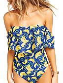 رخيصةأون فساتين للنساء-أصفر M L XL كشكش فاكهة, ملابس السباحة قعطة واحدة مايوه مثير أصفر بوهو نسائي