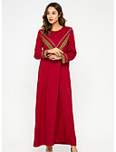 cheap Arabian Clothing-Women's Swing Dress Red L XL XXL