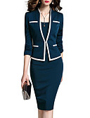 cheap Bikinis-Women's Work Suits Jacket - Solid Colored Dress V Neck / Spring