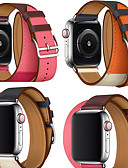 abordables Pantalones y Shorts de Hombre-Ver Banda para Apple Watch Series 4/3/2/1 Apple Correa de Cuero Cuero Auténtico Correa de Muñeca