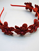 זול אביזרים-פנינה / בדים / סגסוגת רצועות עם פרח חלק 1 אירוע מיוחד / לבוש יומיומי כיסוי ראש