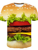 povoljno Muške majice i potkošulje-Majica s rukavima Muškarci 3D Okrugli izrez Print Bijela