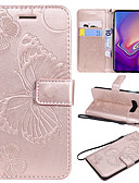 זול טישרטים לגופיות לגברים-מגן עבור Samsung Galaxy S9 / S9 Plus / S8 Plus מחזיק כרטיסים / עם מעמד / נפתח-נסגר כיסוי מלא פרפר קשיח עור PU