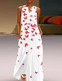 رخيصةأون فساتين الحفلات-فستان نسائي A line أساسي طباعة طويل للأرض حيوان