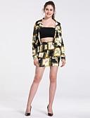 זול חליפות שני חלקים לנשים-חצאית קולור בלוק - סט קצר בסיסי מידות גדולות בגדי ריקוד נשים