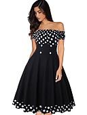 cheap Vintage Dresses-Women's Elegant A Line Dress - Polka Dot Black XL XXL XXXL