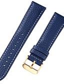 economico Cinturino in pelle-vera pelle / Pelle / Pelo di vitello Cinturino per orologio  Cinghia per Blu 17cm / 6,69 pollici / 18cm / 7 Pollici / 19cm / 7.48 Pollici 1cm / 0.39 Pollici / 1.2cm / 0.47 Pollici / 1.3cm / 0.5