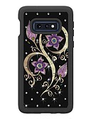 cheap Cellphone Case-Case For Samsung Galaxy Galaxy S10 Plus / Galaxy S10 E Rhinestone / Pattern Back Cover Flower Hard TPU for Galaxy S10 / Galaxy S10 Plus / Galaxy S10 E
