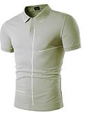 お買い得  メンズ・ベルト-男性用 Polo シャツカラー ソリッド ホワイト XL