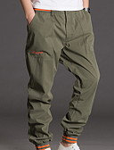levne Pánské kalhoty a kraťasy-Pánské Základní Kalhoty chinos Kalhoty - Jednobarevné Černá Šedá Armádní zelená XXXL XXXXL XXXXXL