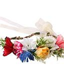 hesapli Kız Çocuk Kıyafet Setleri-Çocuklar Genç Kız Temel / Tatlı Güneş çiçeği Çiçekli Keten Saç Aksesuarları Beyaz / YAKUT / Gökküşağı Tek Boyut