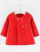 ราคาถูก เสื้อผ้าเด็กหญิงของเด็กทารก-ทารก เด็กผู้หญิง พื้นฐาน สีพื้น ปกติ เทรนช์โต้ต สีดำ / Toddler