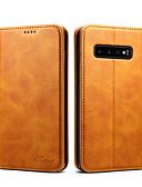 halpa Puhelimen kuoret-Etui Käyttötarkoitus Samsung Galaxy S9 / S9 Plus / Galaxy S10 Lomapkko / Korttikotelo / Iskunkestävä Suojakuori Yhtenäinen Kova PU-nahka