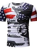 povoljno Muške majice i potkošulje-Majica s rukavima Muškarci Portret Kragna košulje Print Red